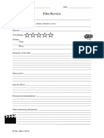 Film Review Template