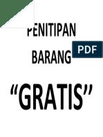 PENITIPAN BARANG