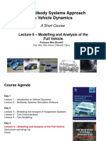 Lecture 6 - Modelling and Analysis of the Full Vehicle