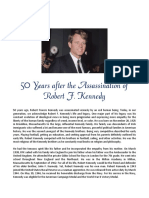 50 Years after the Assassination of Robert F. Kennedy