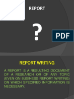 3. Report Writing (1)