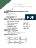 1st Summative Test in Mathematics 4
