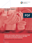 Research Reports Culture and Creative Industries in Germany 2009
