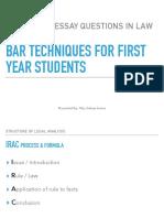 Bar Technique Answering Essay