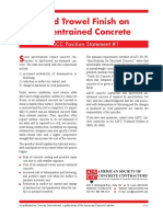 PS-1 - Hard Trowel FInish on Air-Entrained Concrete