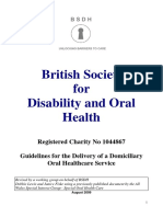 BSDH Domiciliary Guidelines August 2009