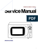 Service Manual for Panasonic Microwave NN-MX25WF / NN-MX25BF
