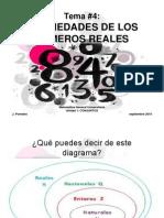 TEMA 4 PROPIEDADES DE LOS NÚMEROS REALES