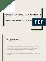 6. PENGANTAR KUALITATIFf