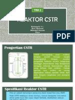 Reaktor CSTR Kelompok 11