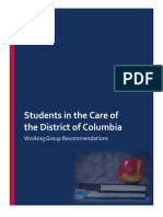 Students in the Care of the District of Columbia Working Group Recommendations - July 18, 2018