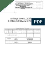 Procedimiento de Montaje e Instalación de Ductos Rejillas y Difusores Rev.02