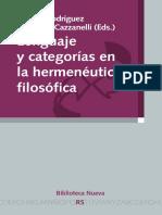 Lenguaje y Categorías en La Hermenéutica Filosófica