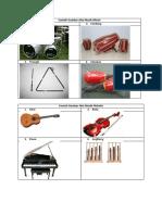 Contoh Gambar Alat Musik Ritmis & Melodis
