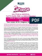 GREASE IlMusical Estate2018-Tour1819
