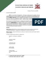 RESOLUCIÓN N° 00265-2018-JEE-TUMB_JNE