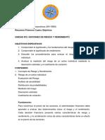 Resumen Primeros Cuatro Objetivos. Finanzas Corporativas UDO