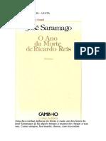 o Ano Da Morte de Ricardo Reis Resumo