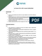 Release Notes TAF e GPE - ESocial