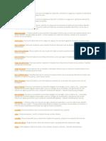 Terminología de Estructuras y Arquitectura