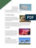 Especies Extintas y Especies en Peligro de Extincion