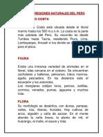 Las Ocho Regiones Naturales Del Perù Prof. Flor