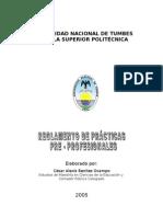 Reglamento de Prácticas PreProfesionales