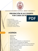 Prevencion de Accidentes Por Caida de Rocas