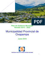 Plan Gobierno Municipal Período 2019-2022