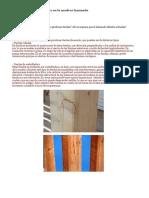 Tipos de Fendas de Secado en La Madera Laminada
