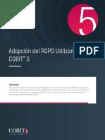 Adopción Del RGPD Utilizando COBIT5