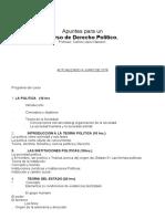 Apuntes Derecho Politico Clases (1)