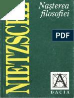 Friedrich Nietzsche - Nasterea filosofiei.pdf