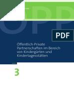 Öffentlich-Private Partnerschaften im Bereich von Kindergärten und Kindertagesstätten