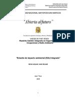 Estudio Impacto Ambiental Integrado