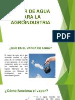 Vapor de Agua Para La Agroindustria