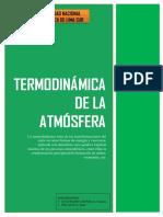 Termodinámica de La Atmósfera