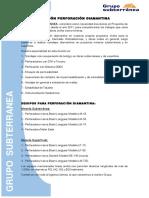 Brochure Perforacion Diamantina