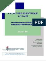PISA 2015 - Premiers Resultats en FWB (2016!12!06 - ULg - ASPe) (Ressource 13629)