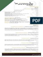 Carta Menú Macerado en Viñamar 2015