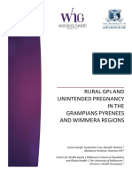 Rural GPs and Unintended Pregnancy in the Grampians, Pyrenees and Wimmera regions