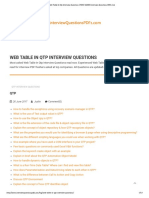 Web Table in Qtp Interview Questions