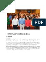 12-05-2018 Irh Mujer en La Política