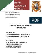 informe n°9 Transformadores de medida, transformadores de tensión