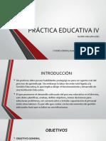 Práctica Educativa IV