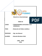 Tarea 2. Reduccion de Oxidos Metalicos.doc