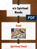 Man's Spiritual Needs