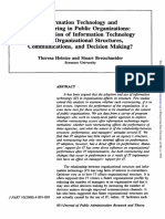 Information Technology and Restructing in Public Organizations