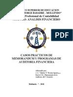 20 Caso Práctico Auditoría MEMORANDUM Y PROGRAMAS Reparaciones El Rey y Jaurence