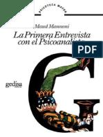 Mannoni, M. La primera entrevista con el psicoanalista [Maud Mannoni].pdf